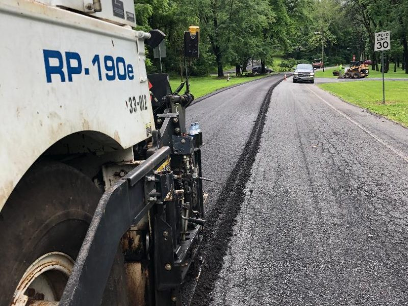 River Road in Muhlenburg Township was inundated with cracking and potholes. The CIR base cut the total depth of the old, deteriorated asphalt pavement.